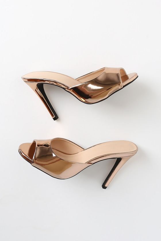 Austin Rose Gold High Heel Sandals by Lulu's