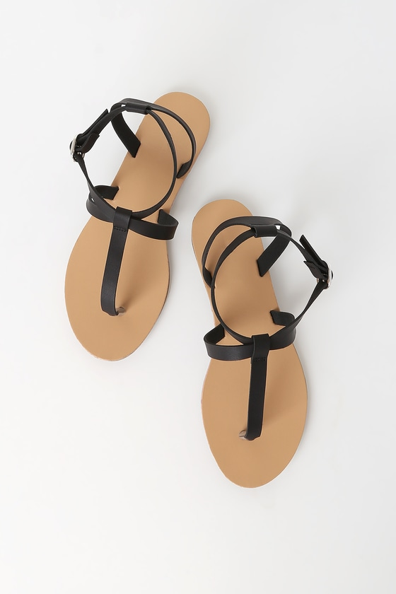 The Indira Black Thong Sandals will be your new \