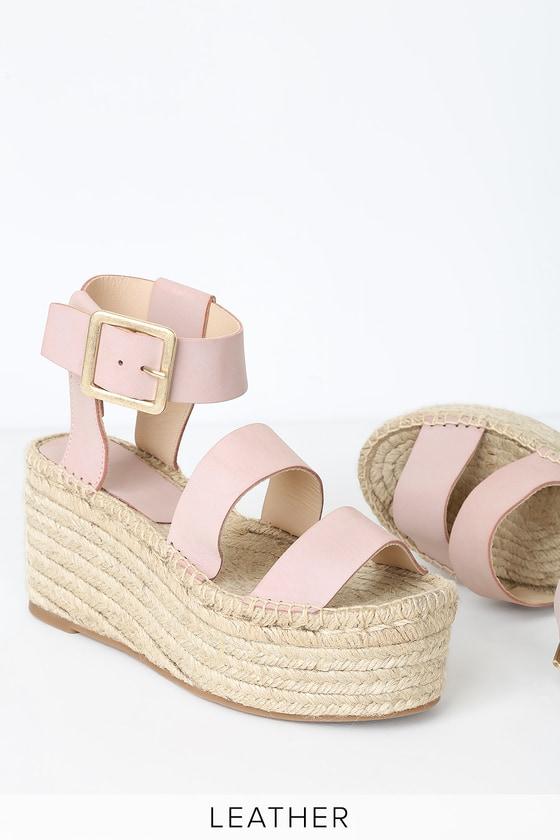 Alohas Lucia - Pink Platform Sandals