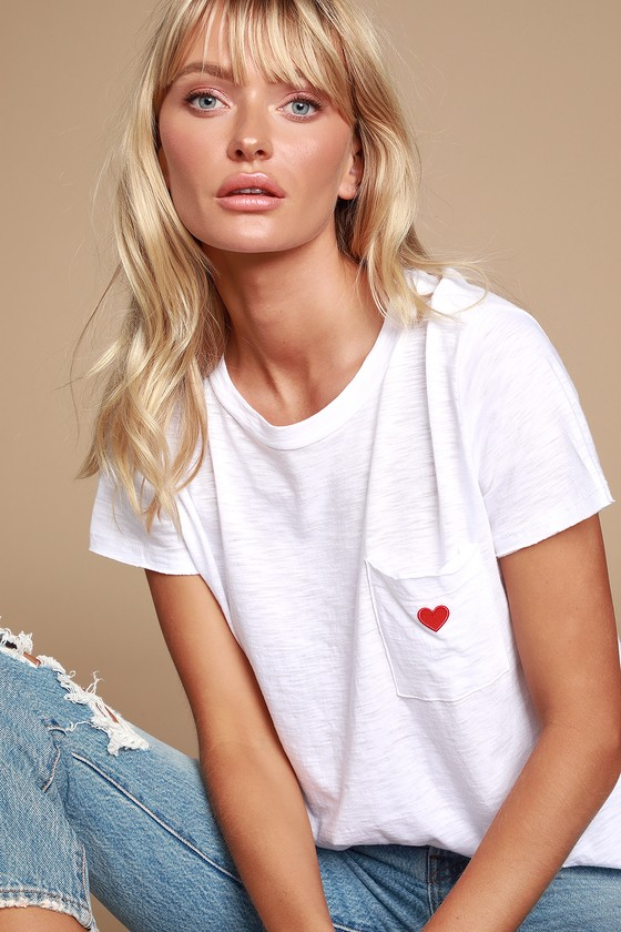 margo-white-heart-pocket-tee by lulus