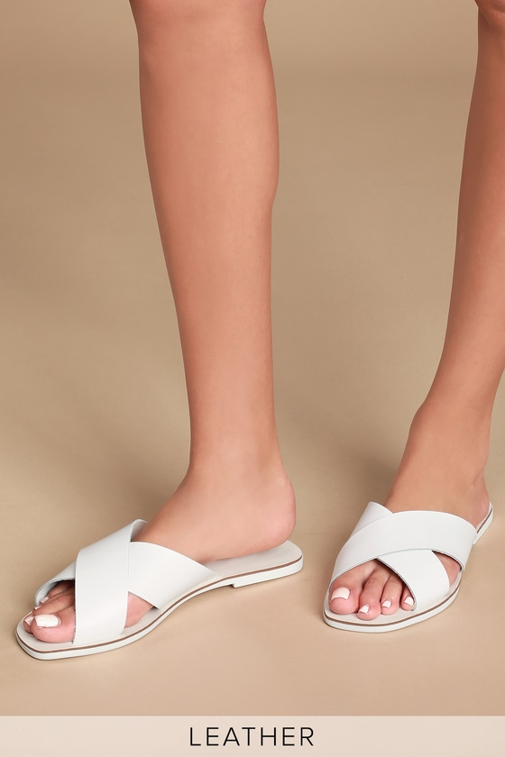 58289bf8e Seychelles Total Relaxation - White Slides - Leather Sandals