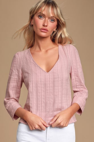 14075a50c688 Pretty Blush-Colored Dresses, Tops, and More in the Latest Styles ...