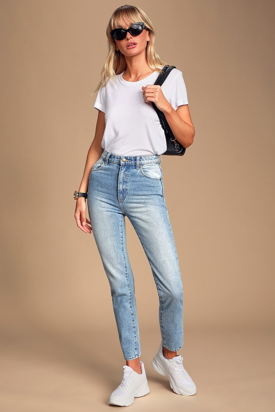 cb4e52a853 Rolla's Dusters - High-Waisted Jeans - Light Blue Jeans