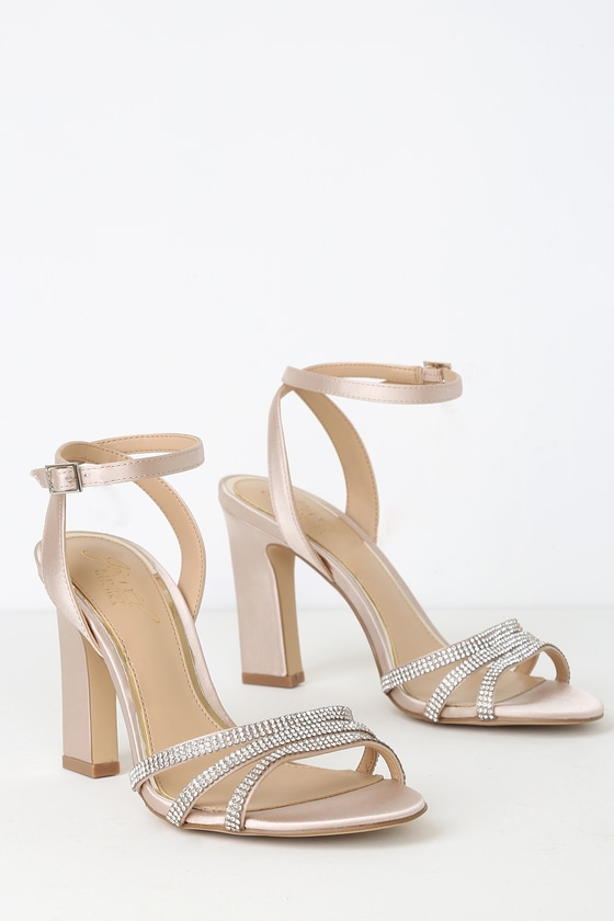 32eaf54c54 Jewel By Badgley Mischka Sparkle - Champagne Rhinestone Heels