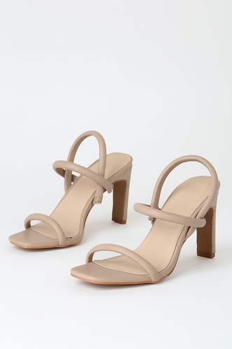 fc072d0f60 Nude Shoes & Blush Heels | Shop Nude Dress Sandals at Lulus