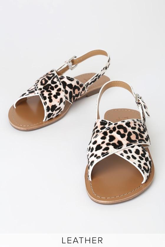 859552ba1447 Marc Fisher Ritely - Leopard Print Sandals - Leather Sandals
