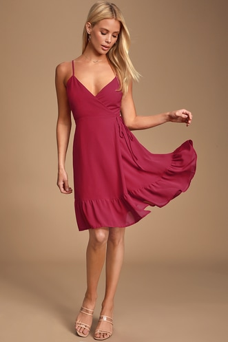 cbbf42044 Trendy, Cute Burgundy Dresses for Less | Find a Casual Burgundy ...