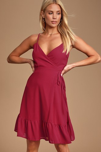 6acd0f0cc580 Trendy, Cute Burgundy Dresses for Less   Find a Casual Burgundy ...