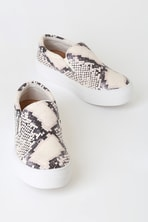 57524a5d20f8 Steve Madden Gills Sneakers - Snake Print Sneakers - Flatform Sneakers