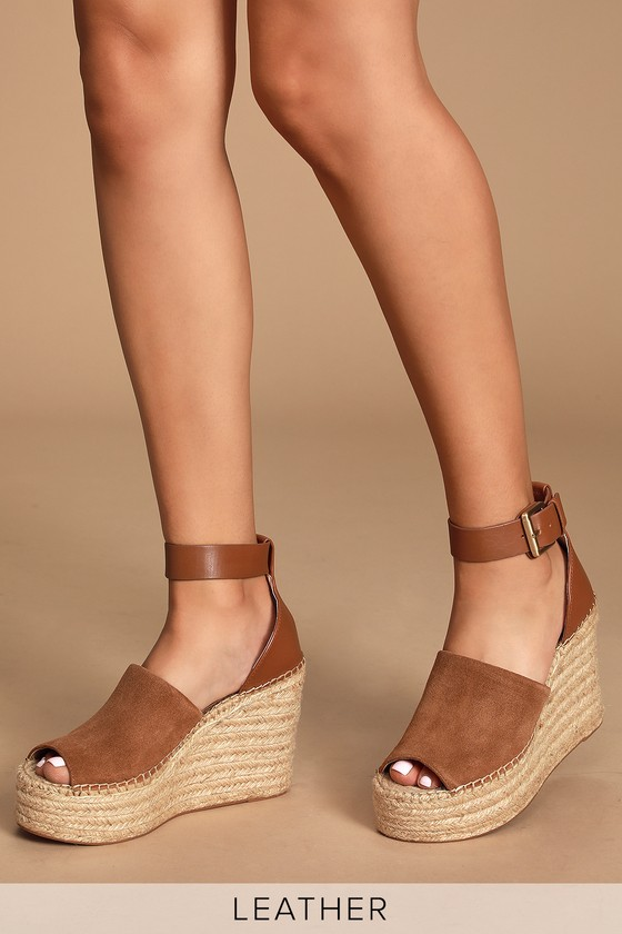 00c0a930fc5 Adalyn Natural Multi Suede Leather Espadrille Wedges