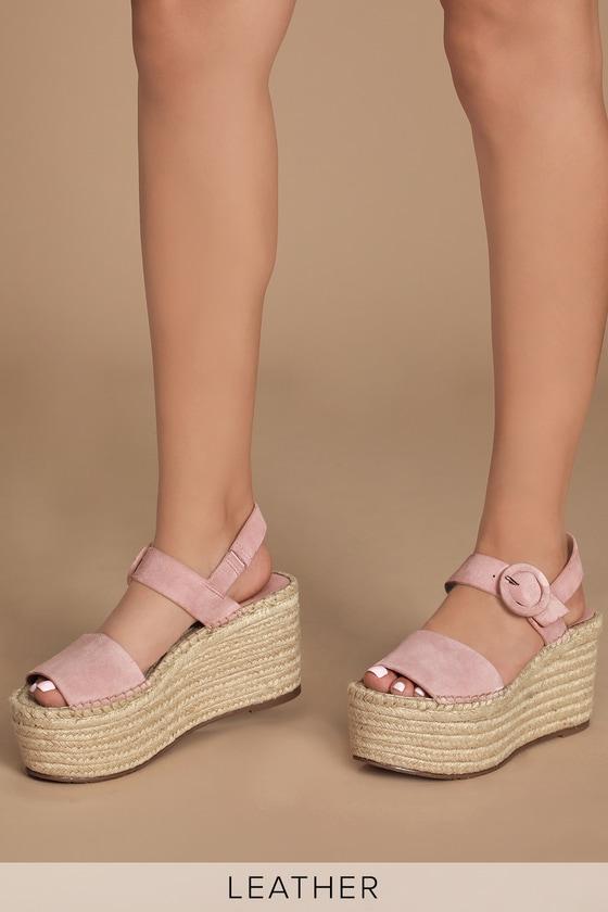 release date: quality pretty nice Marc Fisher Rex Sandals - Leather Heels - Platform Espadrilles
