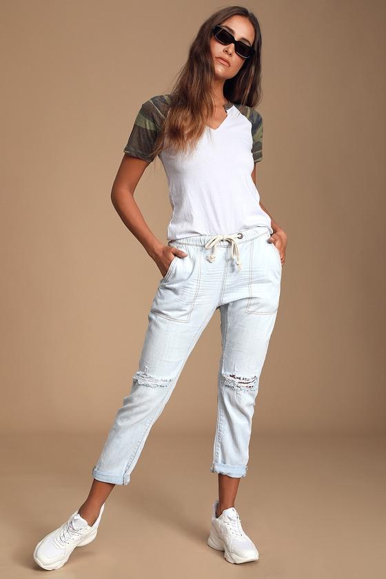 4c8b6b959d2 One Teaspoon Shabbies Jean - Distressed Jeans - Drawstring Pants