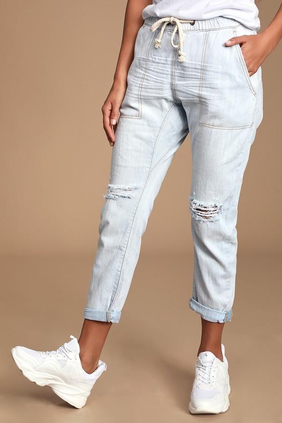 1537c14f2fd One Teaspoon Shabbies Jean - Distressed Jeans - Drawstring Pants