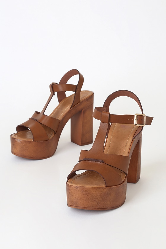 fast delivery retail prices good texture Faye Brown Wooden Platform Sandals