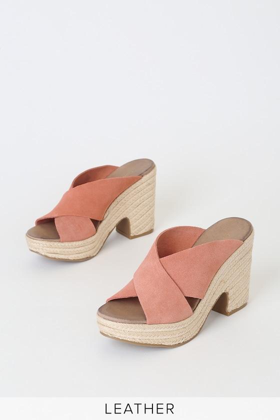 372b7c35db7 Quay Clay Pink Suede Espadrille Platform Sandals