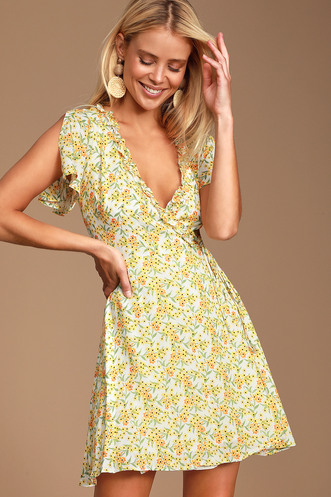 2af23e69514ade Shop Short or Long Wrap Dress in the Latest Style for Less | Trendy ...