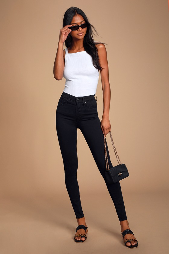 Mile High Black Super Skinny Jeans by Levi's