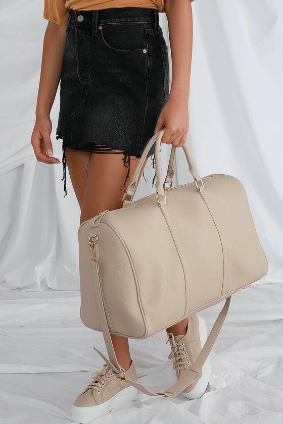 Stay The Night Beige Weekender Bag by Lulus
