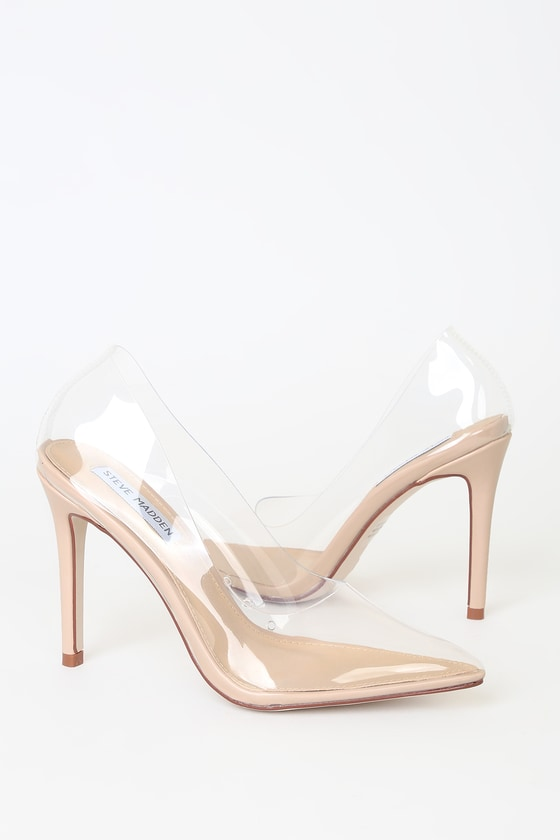 Clear Pointed-Toe Pumps - Lulus