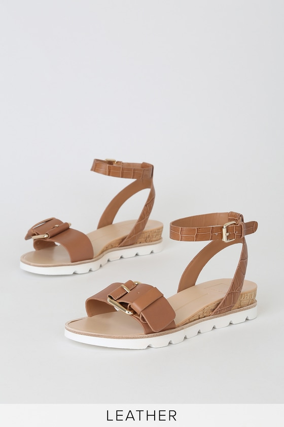 Virgo Mocha Leather Ankle Strap Sandals by Dolce Vita