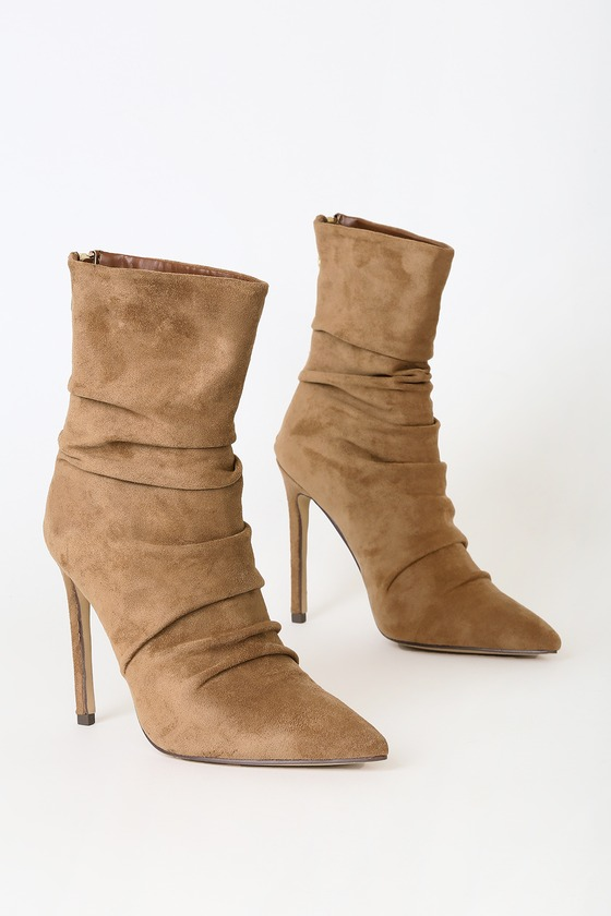 Fabrizia Tan Suede Mid Calf Boots by Lulu's
