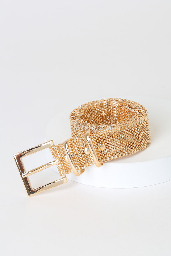 Be True Gold Mesh Metal Belt by Lulus