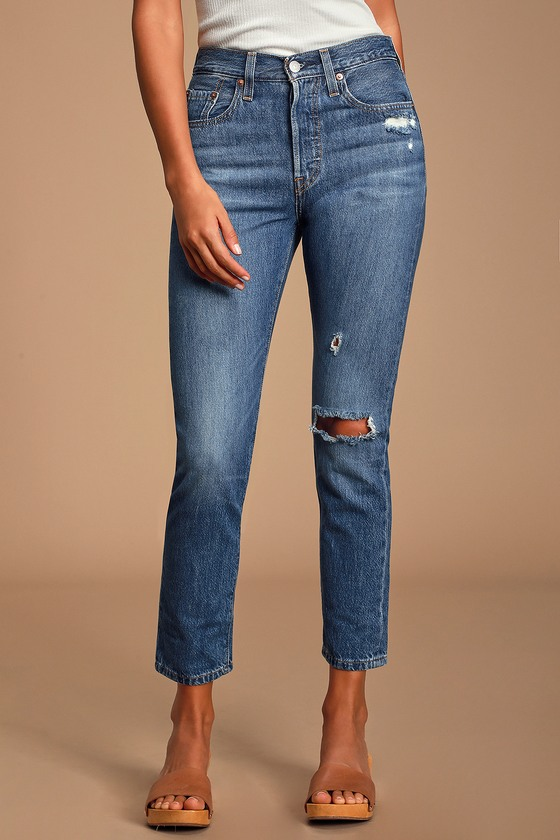 nouveau produit 1965f 0e433 501 Skinny Distressed Medium Wash Jeans
