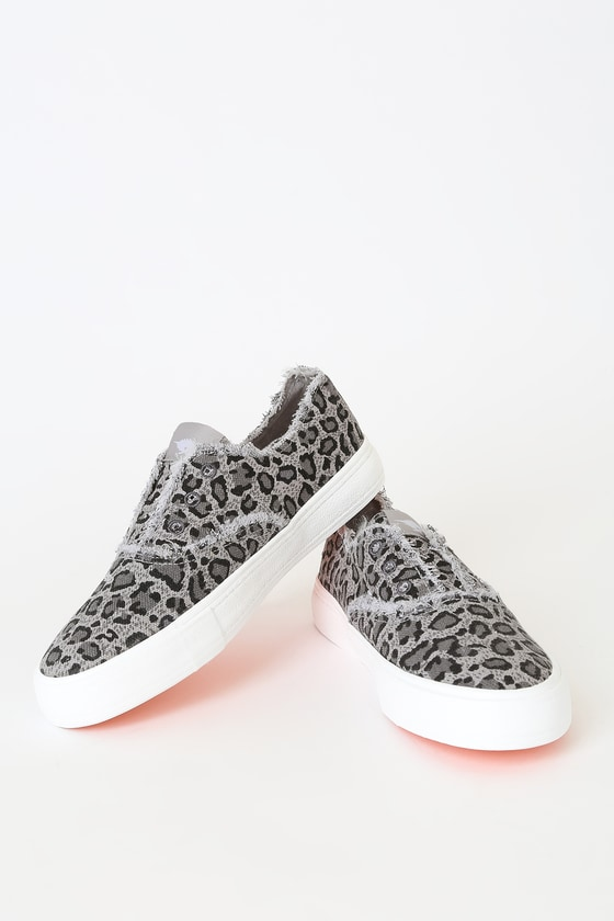 Rocket Dog Afina Grey Leopard Slip-On Sneakers