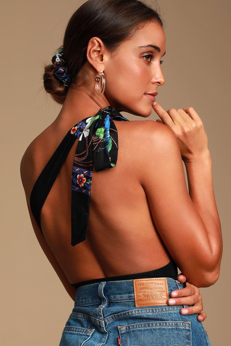 Alicialynn Black One Shoulder Bodysuit by Lulus