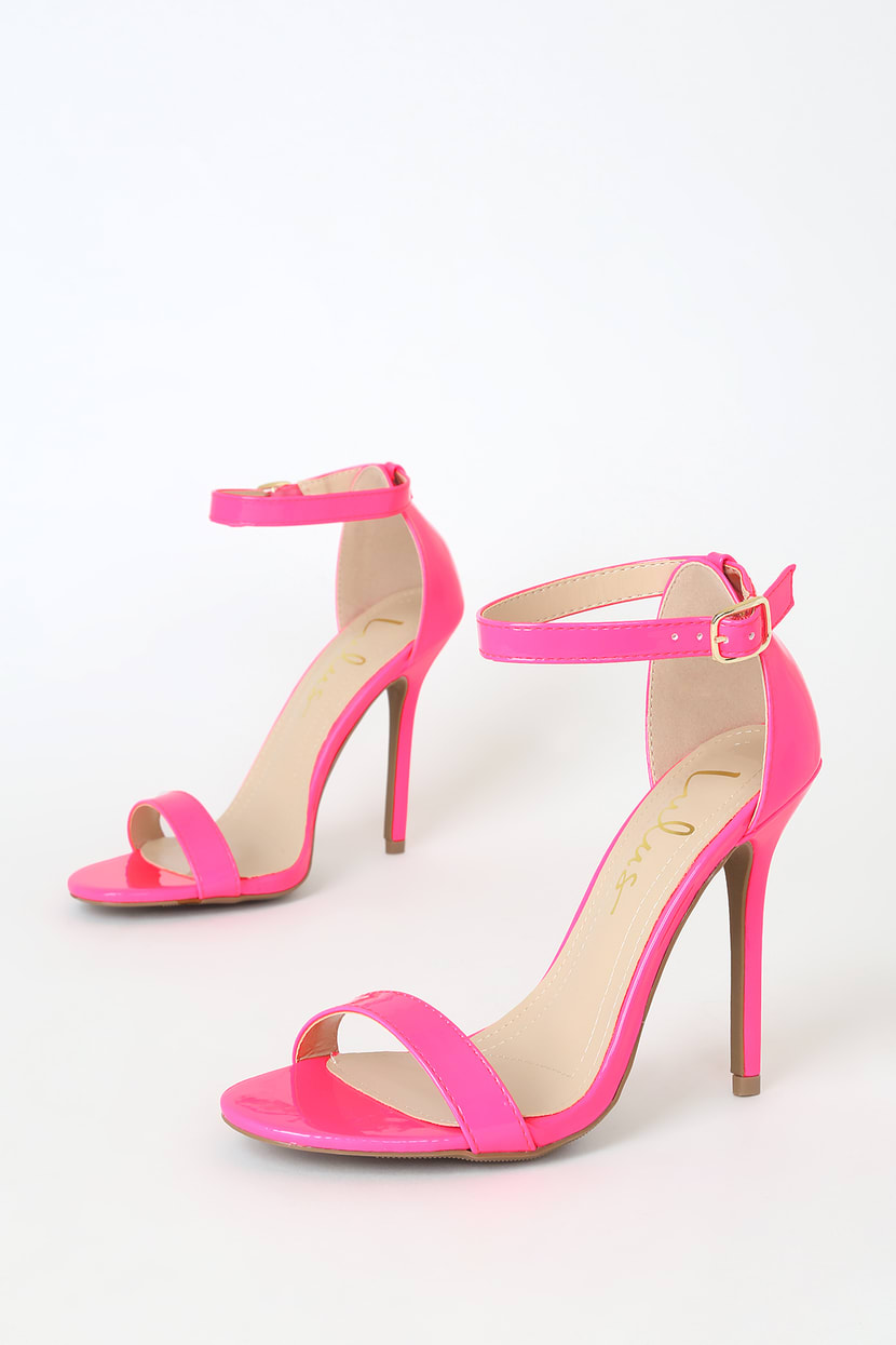 Pink Heels With Strap