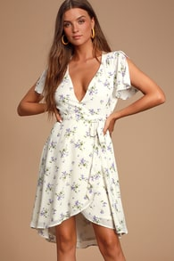 Shop Short Or Long Wrap Dress In The Latest Style For Less