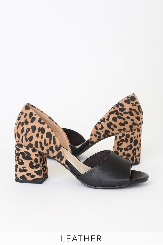 9d233a934fd Shoptagr   Shabby Chic Black Leopard Suede Leather Heels by Seychelles