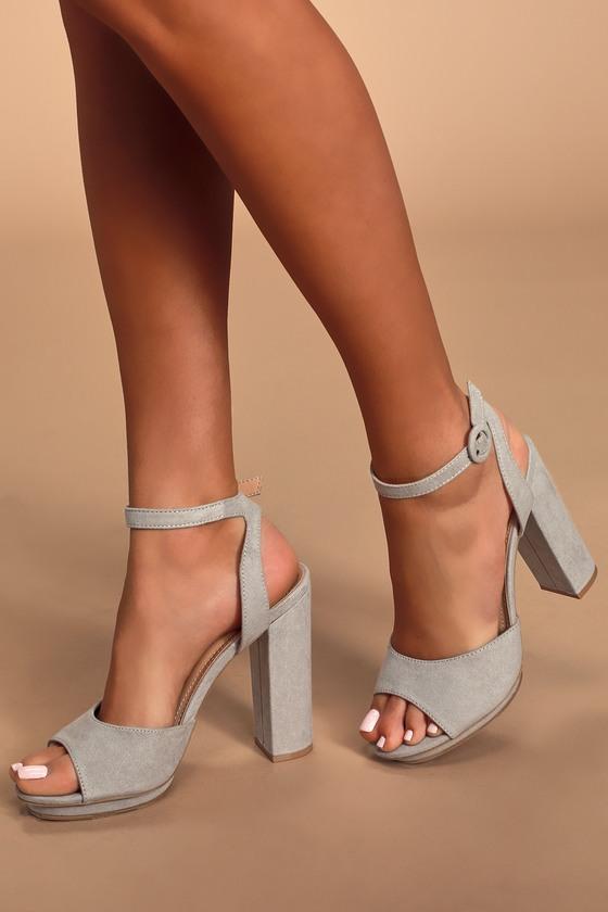 grey suede platform sandals