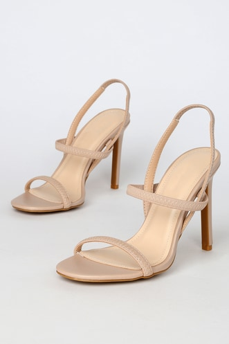 dc7a26e85dd Nude Shoes & Blush Heels | Shop Nude Dress Sandals at Lulus