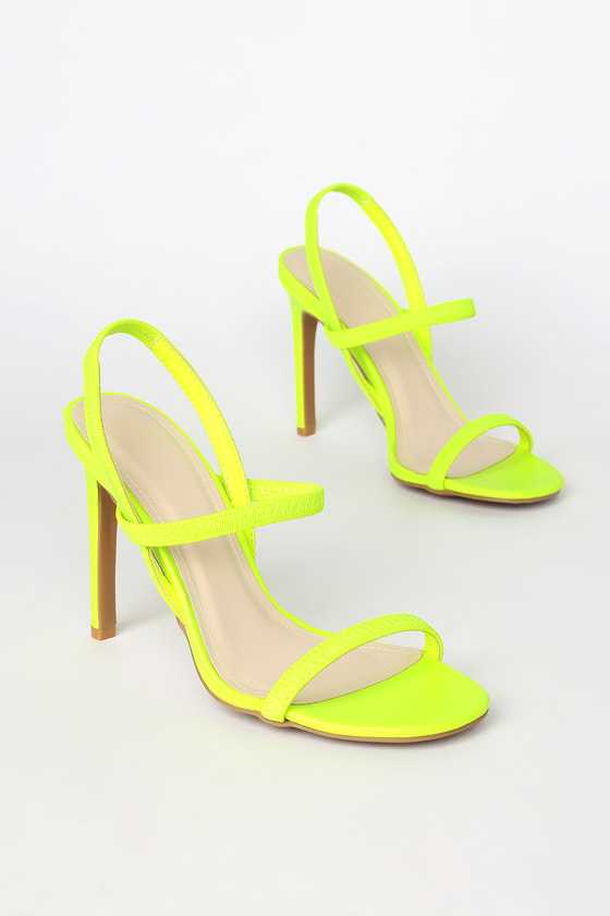 so cheap cheap price look for Babie Neon Yellow Strappy High Heel Sandals