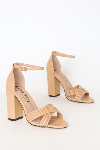 bad8ec0f8d4 Nude Shoes & Blush Heels | Shop Nude Dress Sandals at Lulus