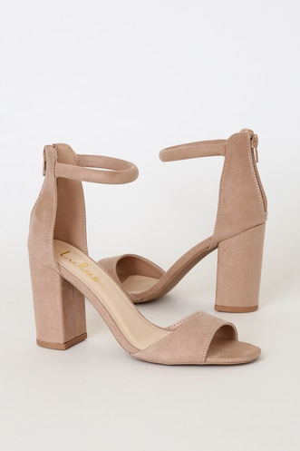 faa17ce49c7 Cute Chunky Heels | Block Heels in Black, White & Nude
