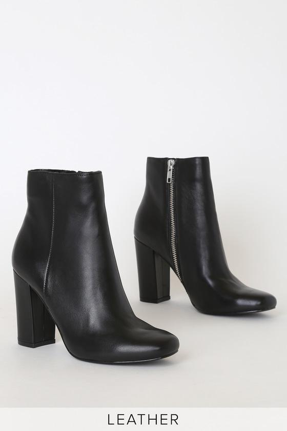 cantidad de ventas Tía Juicio  Steve Madden Pixie - Black Leather Boots - Black Leather Boots - Lulus