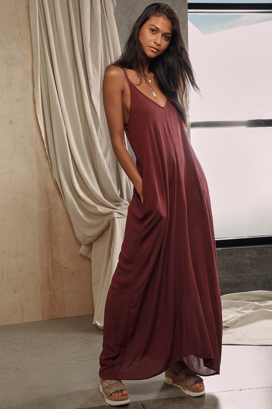 Boho Maxi Dress - Casual Dress