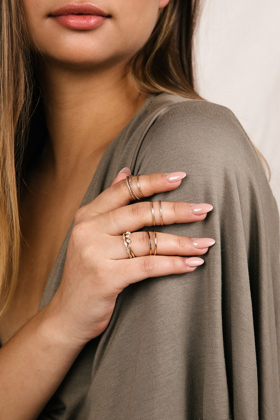 living-it-up-gold-ring-set by lulus