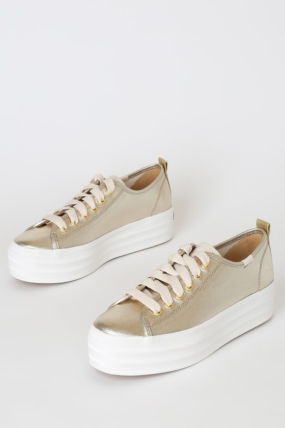 Keds Triple Up Sneakers - Metallic Gold