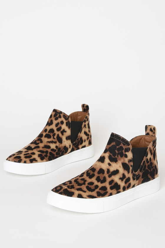 Report Axel Leopard Print Suede Slip-On Sneakers - Trendy Cat Print