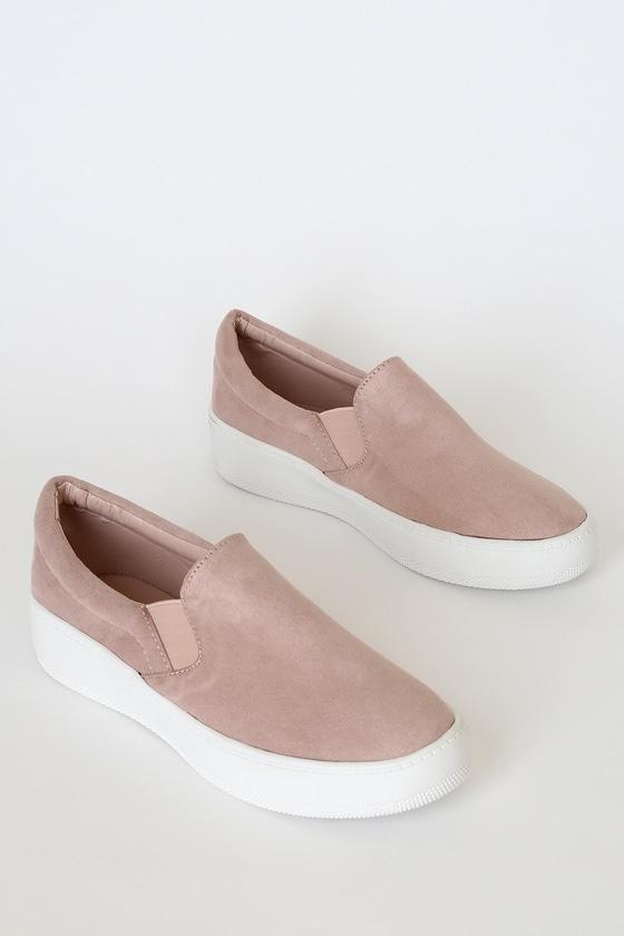 Cute Mauve Sneakers - Slip-On Sneakers