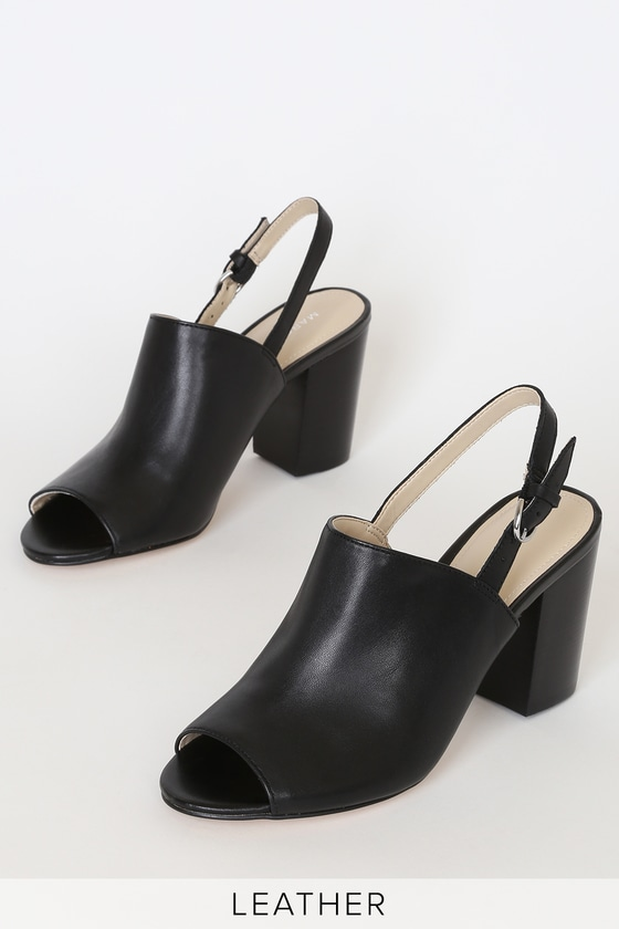 Marc Fisher Wala - Black Leather Mules