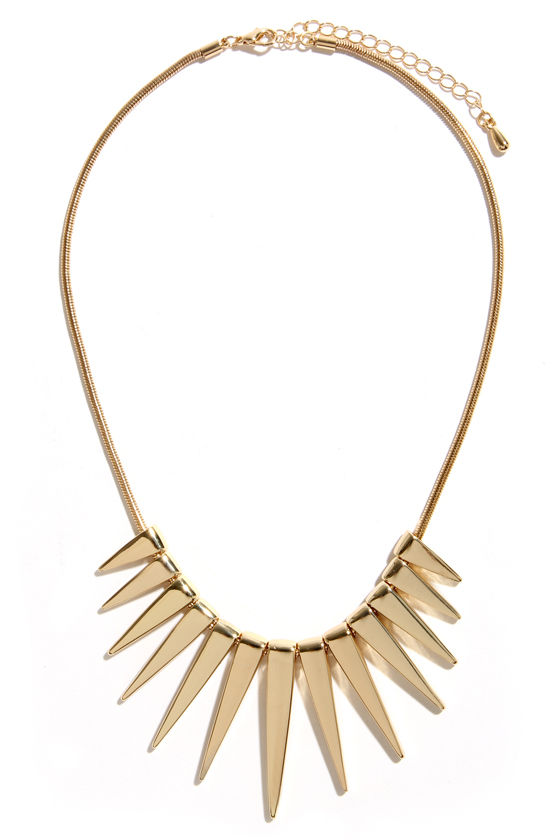 Solar Flare Gold Necklace at Lulus.com!