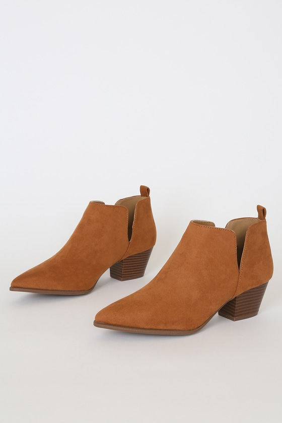 Marca Rust Suede Ankle Booties