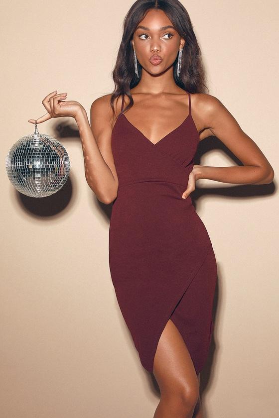 Loving Looks Plum Purple Bodycon Mini Dress by Lulus