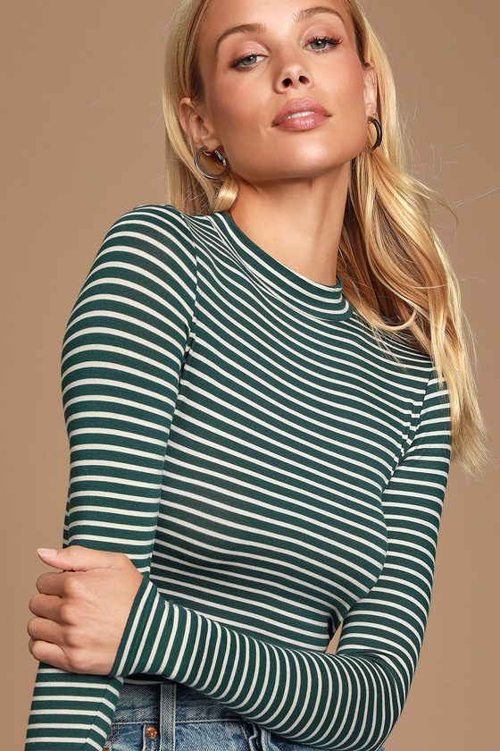 Anything is Posh-ible Black Striped Blouse- Long Sleeve Outfit