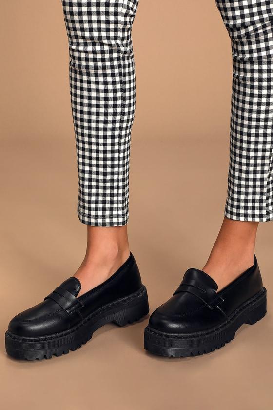 Flatform Loafers - Vegan Leather Shoes