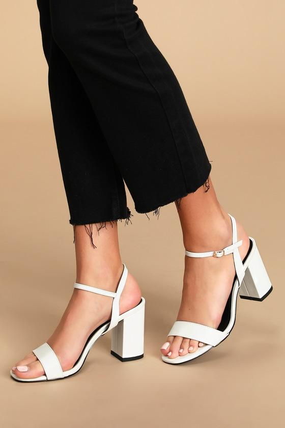 White Heels - White Heel Sandals - Lulus